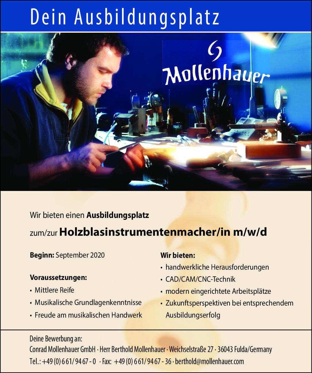 Azubi Holzblasinstrument (m/w/d)