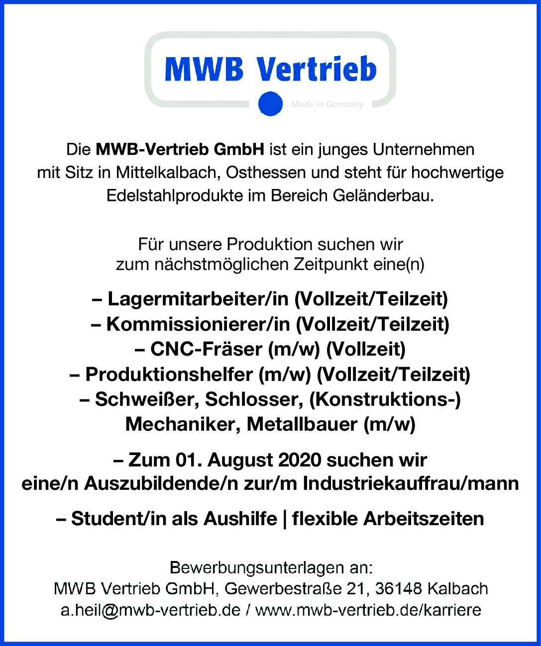 MWB-Vertrieb