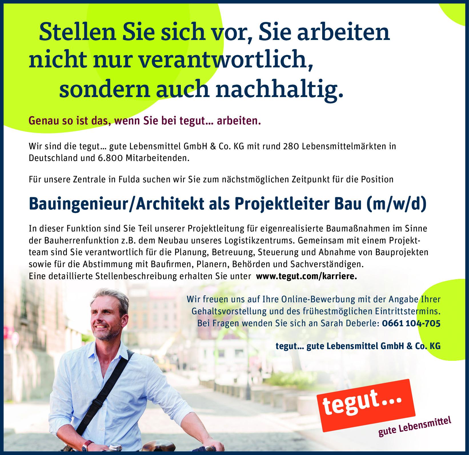 Bauingenieur/Architekt als Projektleiter Bau (m/w/d)
