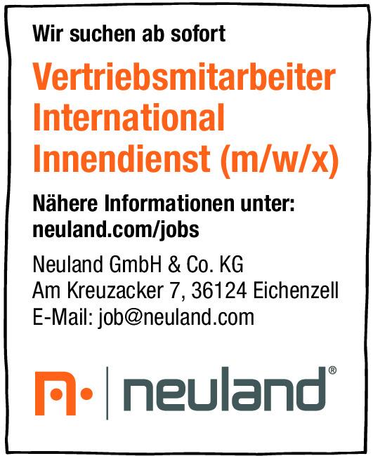 Vertriebsmitarbeiter/ Innendienst (m/w/d)