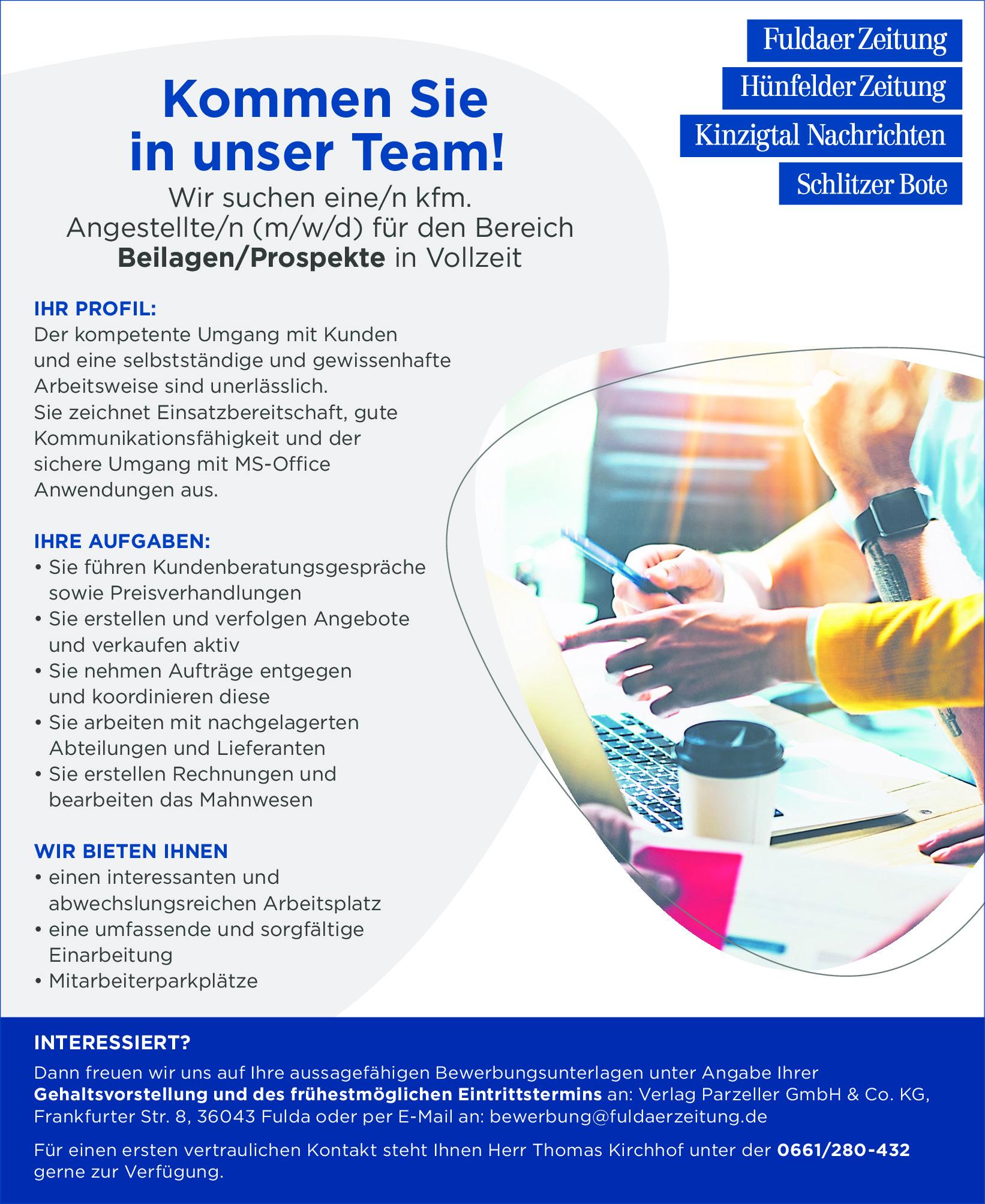 Mitarbeiter (m/w/d) Beilagen/Prospekte