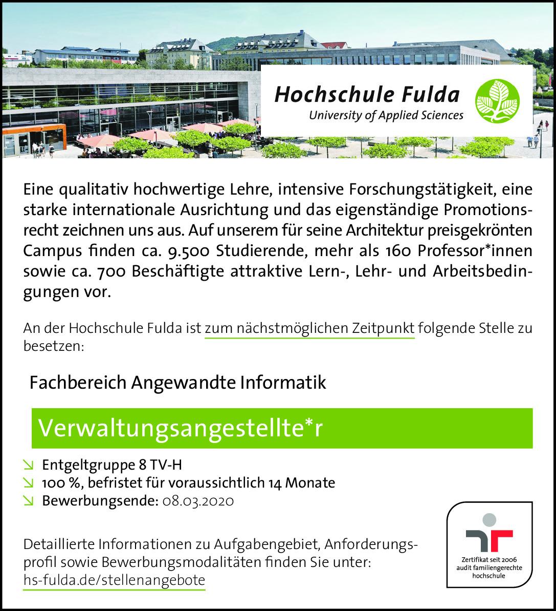 Auftrag 043465867AA Hochschule Fulda
