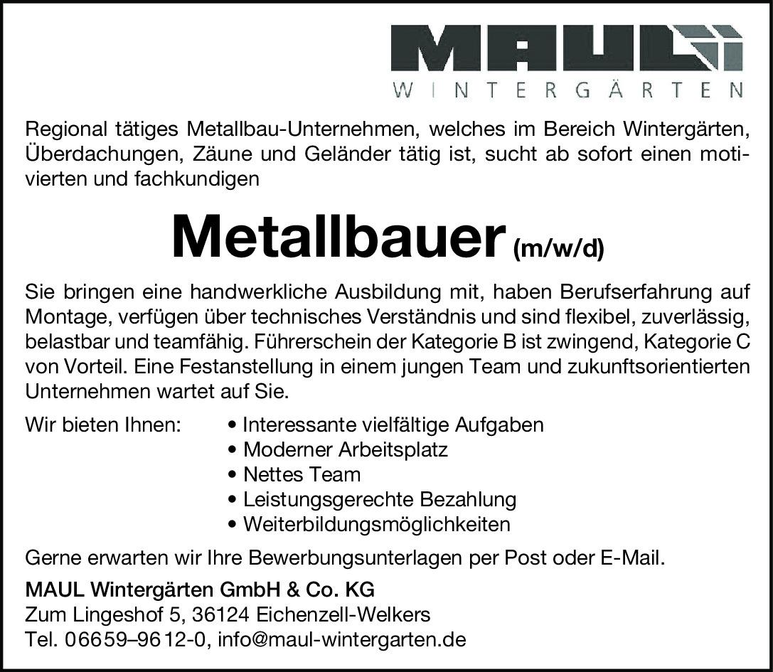 Metallbauer (m/w/d)