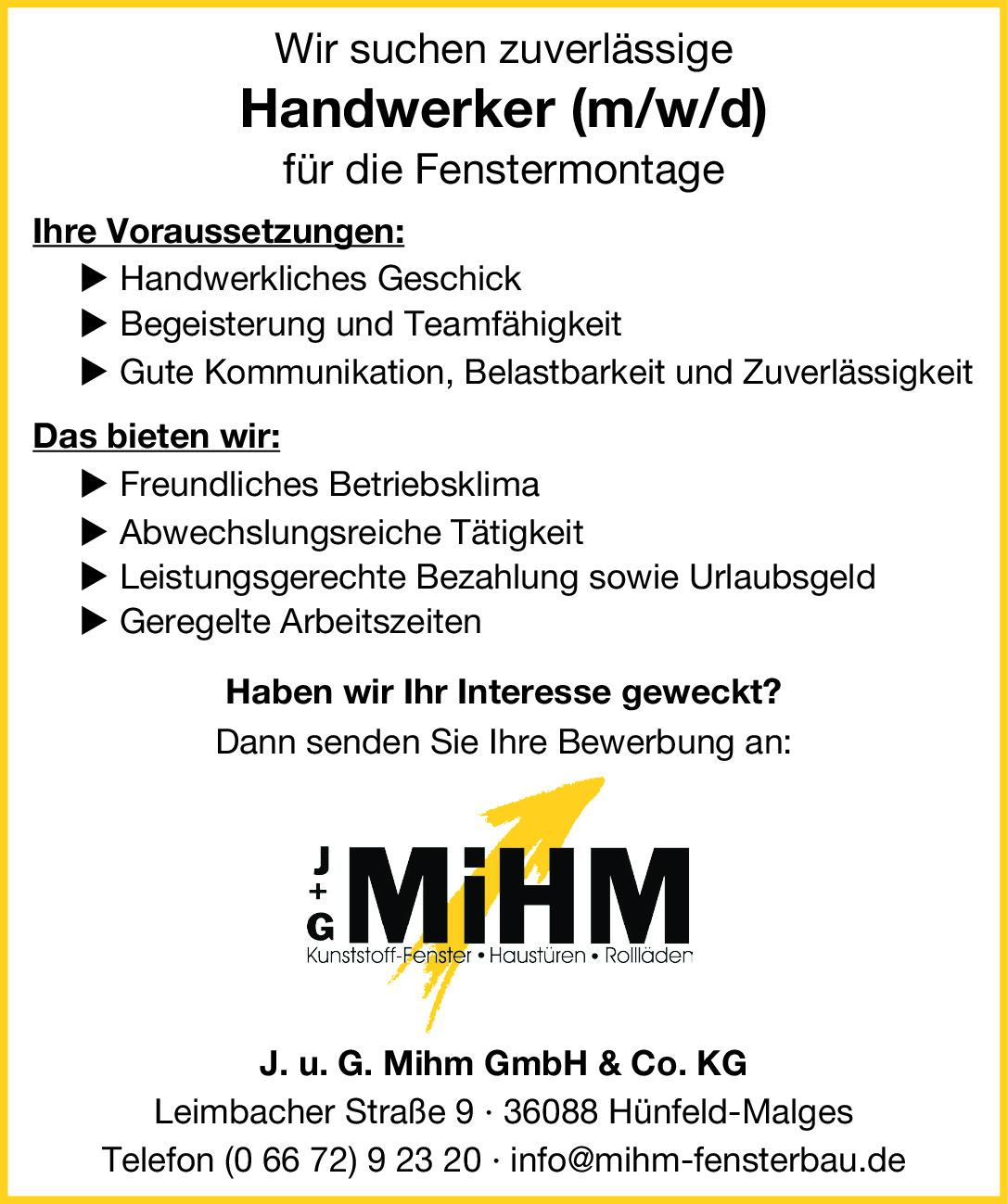 Handwerker (m/w/d)