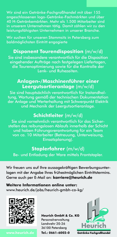 Heurich sucht (m/w/d)
