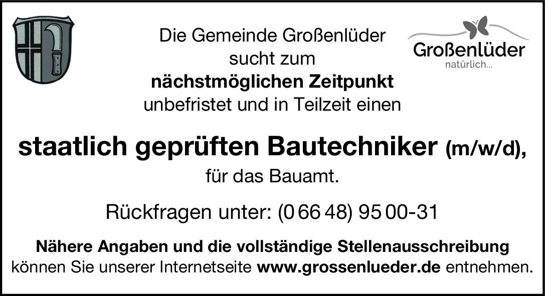 gepr. Bautechniker (m/w/d)