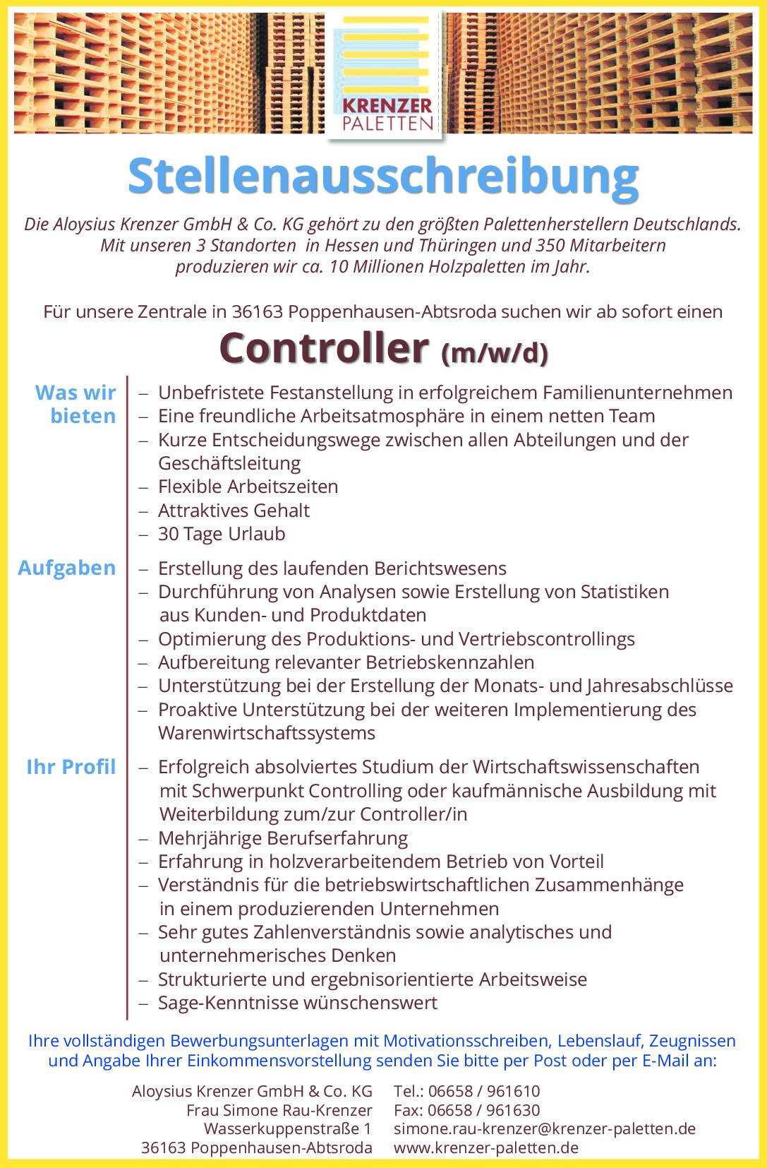 Controller (m/w/d)