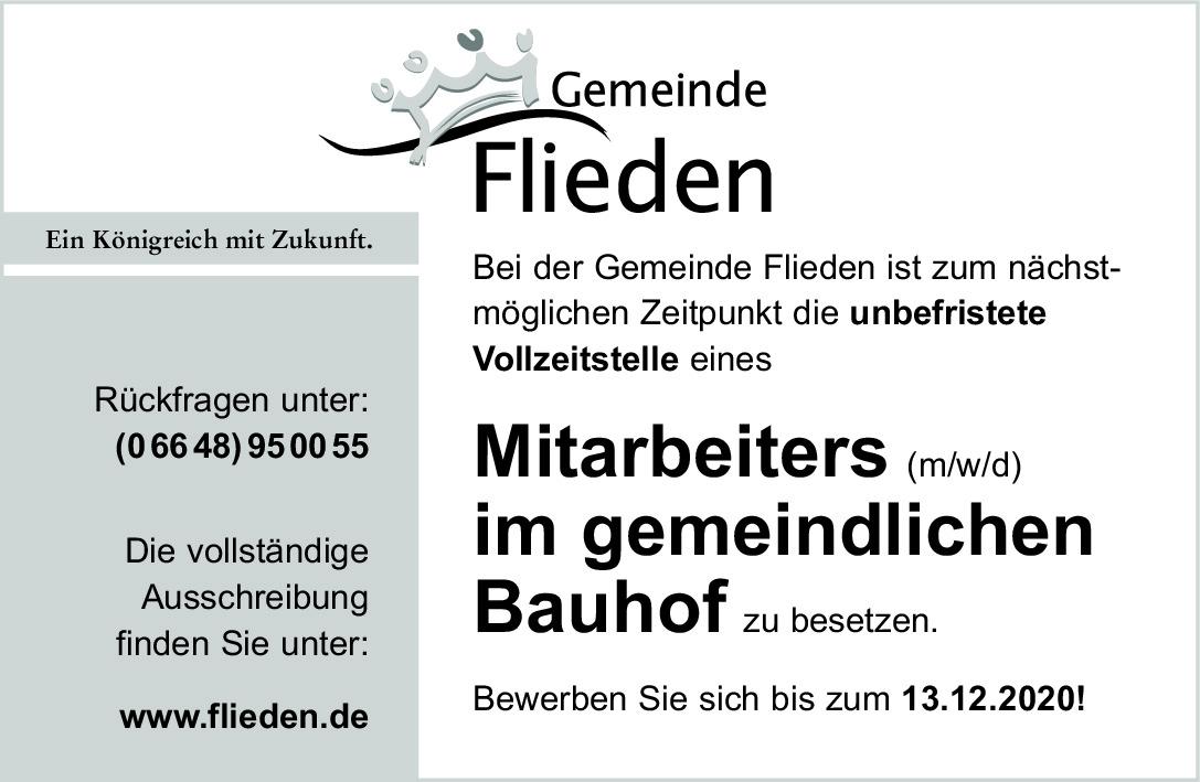 Mitarbeiter (m/w/d) Bauhof