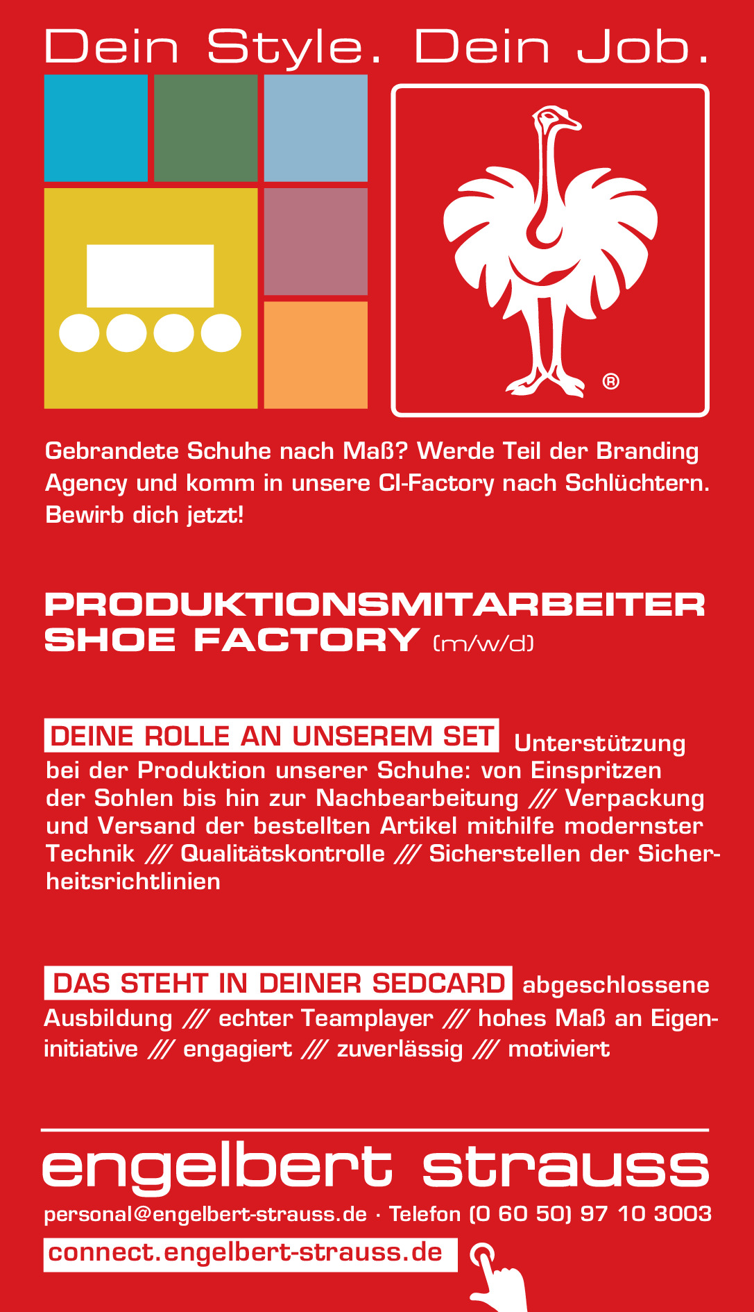 Produktionsmitarbeiter (m/w/d) Shoe Factory