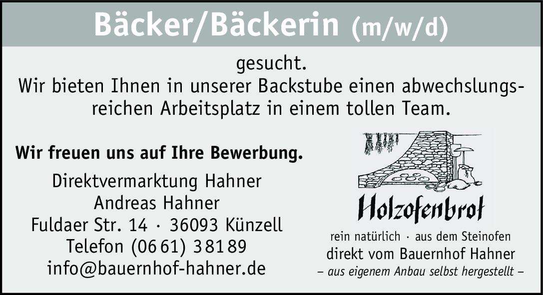 Bäcker/Bäckerin (m/w/d)