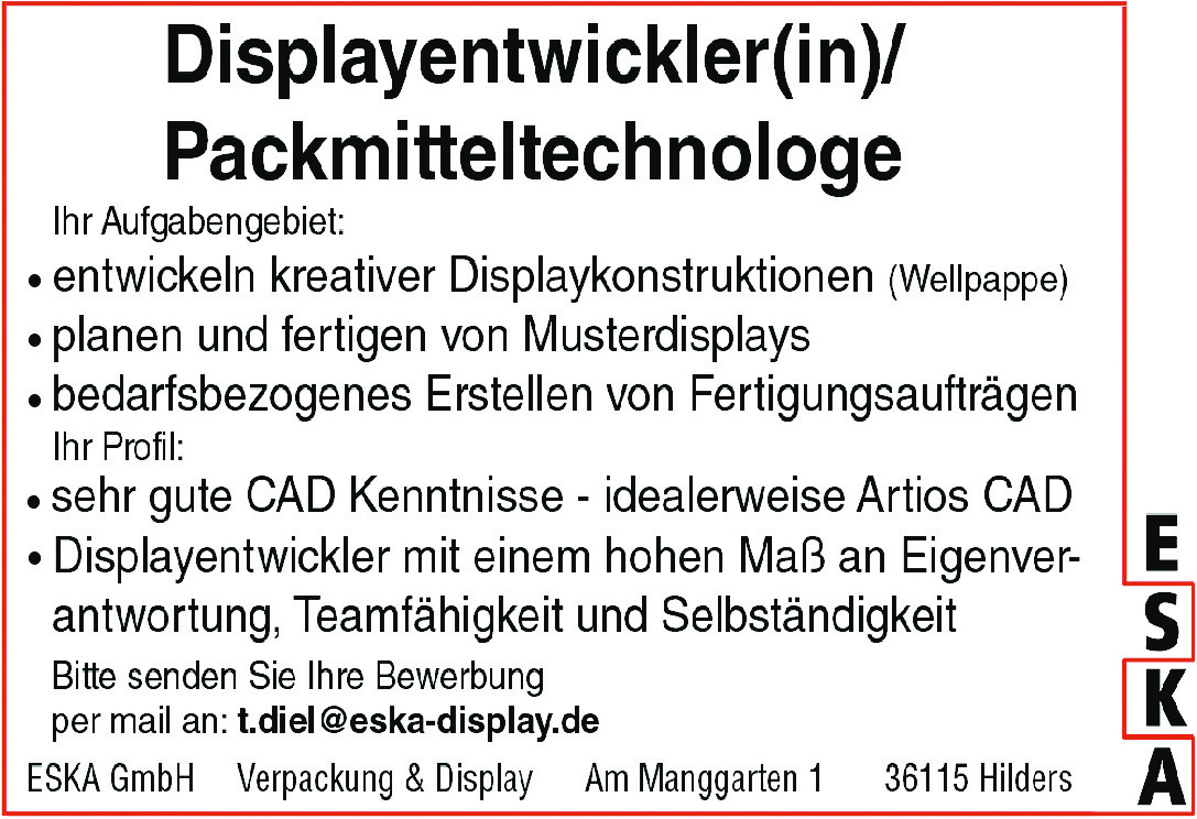 Displayentwickler/in (m/w/d)
