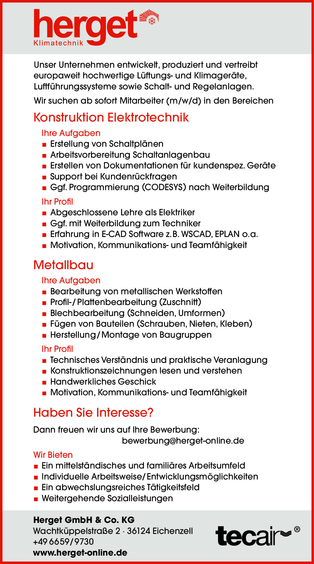 Herget GmbH stellt ein…
