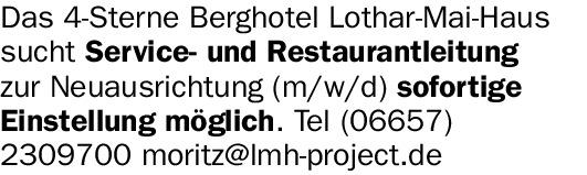 Das 4-Sterne Berghotel Lothar-Mai-Haus