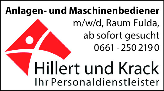 Anlagen- und Maschinenbediener (m/w/d)