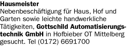 Hausmeister (m/w/d)