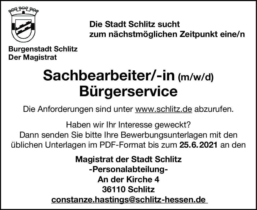 Sachberarbeiter*in Bürgerservice