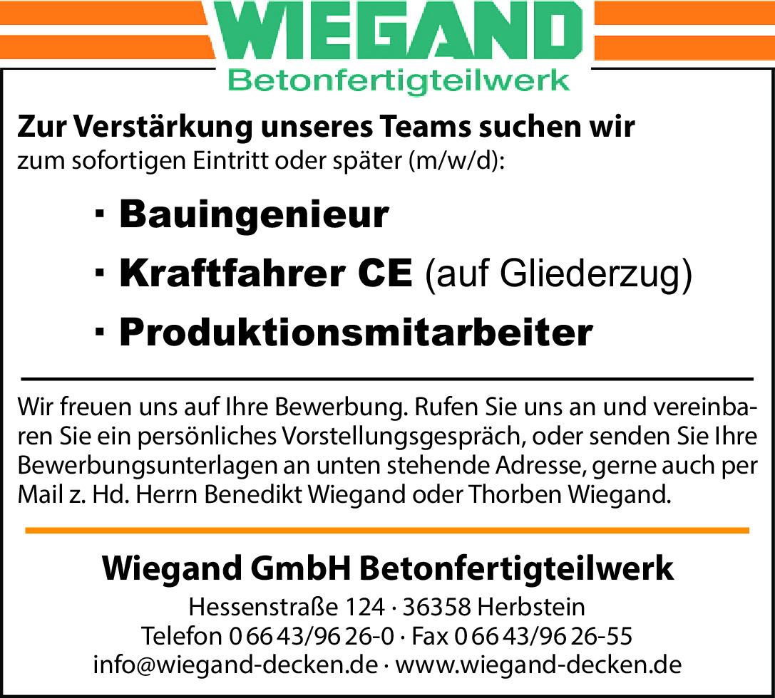 39090454, Wiegand Betonfertigteilwerk GmbH