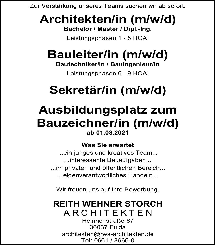 Architekt / Bauleiter / Sekretärin