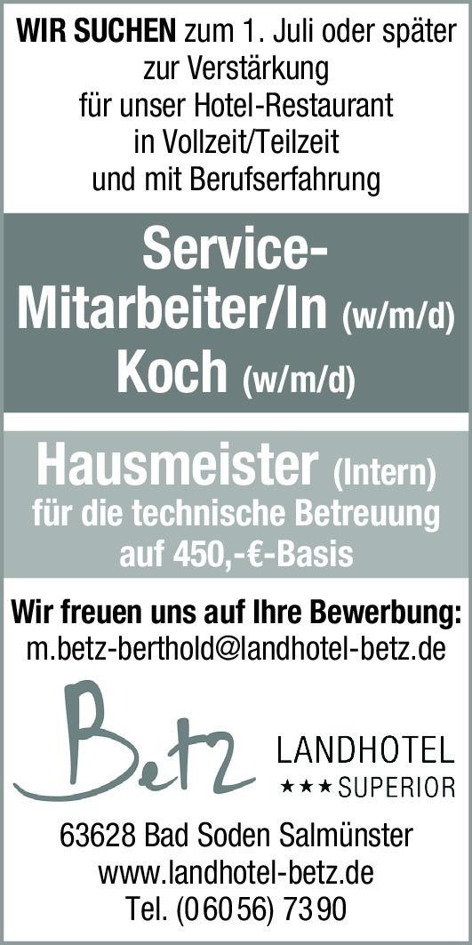 Service-Mitarbeiter/In (w/m/d)