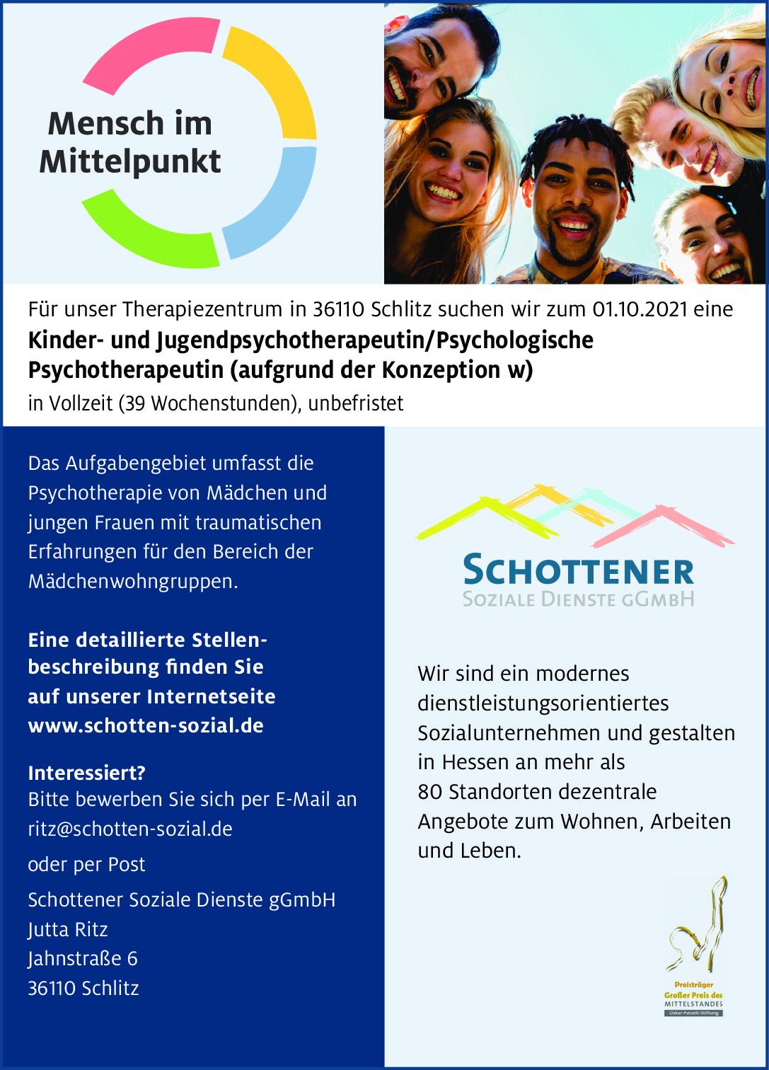 Kinder- und Jugendpsychotherapeutin/