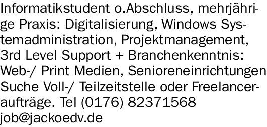 Informatikstudent (m/w/d)