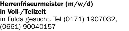 Herrenfriseurmeister (m/w/d)