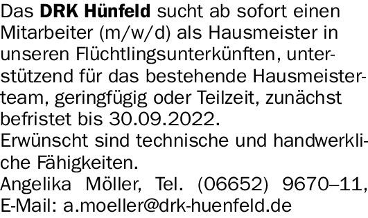 Hausmeister Teilzeit (m/w/d)