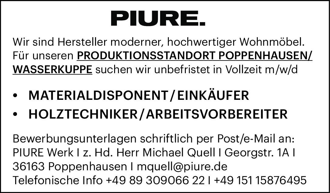 Diverse Stellen, Standort Poppenhausen